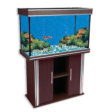 <strong>Penn Plax</strong> Nautilus III Aquarium with Silver Trim and Stand