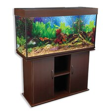 <strong>Penn Plax</strong> Delta Queen V Rectangular Aquarium and Stand