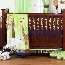 Jazzie Jungle Boy Infant 4 Piece Crib Bedding Set