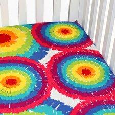 Terrific Tie Dye Crib Sheet