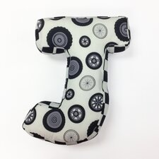 "Teyo's Tires Letter Pillow ""J"""