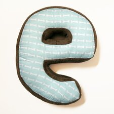 "Puppy Pal Boy Letter Pillow ""E"""