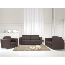 Helsinki Leather Sofa Set