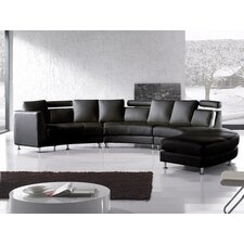 Rotunde Leather Sofa Set