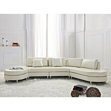 Copenhagen Leather Sofa Set