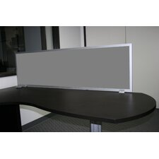 Desk Mounted Fabric Privacy Panel with Aluminum Frame