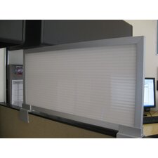 "18"" Cubicle Mounted Privacy Panel with Large Brackets"
