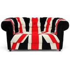 Baxton Studio Union Velveteen Sofa