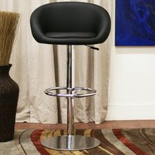 "Baxton Studio Wynn 23.5"" Adjustable Swivel Bar Stool with Cushion (Set of 2)"