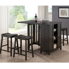 Baxton Studio Aurora Modern 4 Piece Pub Table Set