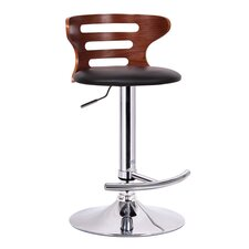 Baxton Studio Buell Adjustable Swivel Bar Stool with Cushion
