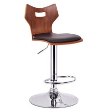 Baxton Studio Amery Adjustable Swivel Bar Stool with Cushion (Set of 2)
