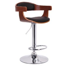 Baxton Studio Garr Adjustable Swivel Bar Stool with Cushion
