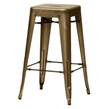 "Baxton Studio French Industrial 26.5"" Bar Stool (Set of 2)"