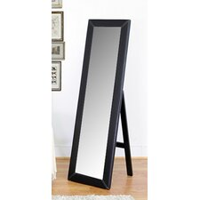 <strong>Wholesale Interiors</strong> Baxton Studio McLean Modern Mirror with Built in Stand in Dark Brown