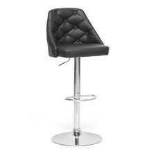 "Baxton Studio Salzburg Modern 24.5"" Adjustable Swivel Bar Stool with Cushion"