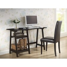 Baxton Studio Small Mott Wood Modern Writing Desk with Sawhorse Legs
