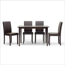 <strong>Wholesale Interiors</strong> Baxton Studio Susan 5 Piece Dining Set