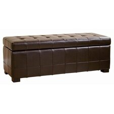 <strong>Wholesale Interiors</strong> Parolles Tufted Leather Storage Ottoman