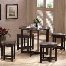 Baxton Studio Rochester 5 Piece Counter Height Dining Set