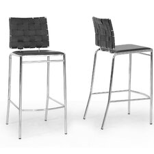 "Baxton Studio Vittoria Modern 29.88"" Bar Stool (Set of 2)"