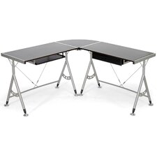 "Baxton Studio Elburn L-Shaped Modern 58"" W x 58"" D Computer Table"
