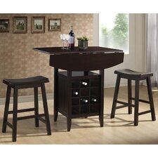 <strong>Wholesale Interiors</strong> Baxton Studio Reynolds Modern 3 Piece Pub Table Set