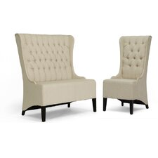 <strong>Wholesale Interiors</strong> Baxton Studio Vincent  Loveseat Bench and Chair Set