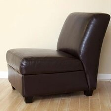 <strong>Wholesale Interiors</strong> Fleance Leather Slipper Chair