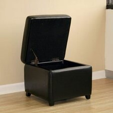 <strong>Wholesale Interiors</strong> Pisanio Leather Cube Ottoman