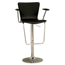 <strong>Wholesale Interiors</strong> Jaques with Arm Leather Adjustable Barstool