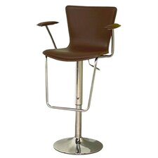 Jaques Adjustable Height Bar Stool with Cushion