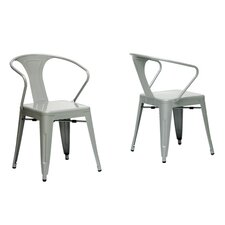 Baxton Studio French Industrial Arm Chair (Set of 2)
