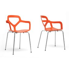Baxton Studio Miami Arm Chair (Set of 2)