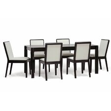 Baxton Studio Maeve 7 Piece Dining Set