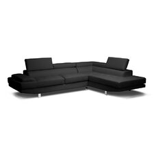 <strong>Wholesale Interiors</strong> Baxton Studio Selma Leather Modern Sectional Sofa