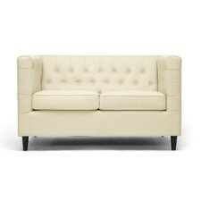 <strong>Wholesale Interiors</strong> Baxton Studio Darrow Leather Loveseat