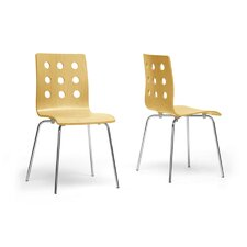 Baxton Studio Celeste Side Chair (Set of 2)