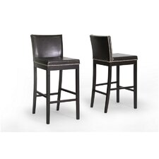 "<strong>Wholesale Interiors</strong> Baxton Studio Graymoor 30.75"" Bar Stool with Cushion (Set of 2)"