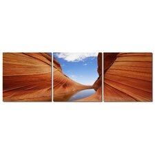 Baxton Studio Desert Sandstone 3 Piece Photographic Print on Canvas Set