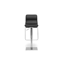 "Baxton Studio Helsinki Modern 21.5"" Adjustable Swivel Bar Stool with Cushion"