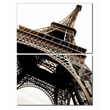 Baxton Studio Eiffel Tower 3 Piece Photographic Print on Canvas Set