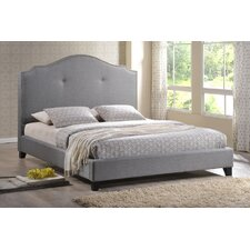 Marsha Scalloped Upholstered Linen Modern Bed