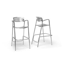 "Baxton Studio Ethan 31.75"" Bar Stool (Set of 2)"