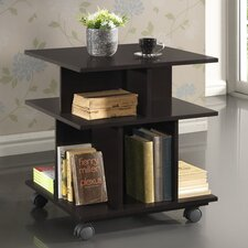 <strong>Wholesale Interiors</strong> Baxton Studio Warren Wheeled Modern Storage Shelf