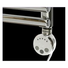 Thermostatic Electric Towel Rail Heating Element in Chrome