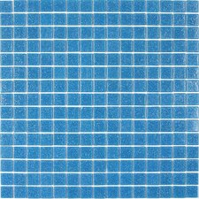 "<strong>Giorbello</strong> Classic Tesserae 12-7/8"" x 12-7/8"" Glass Tile in Blue Sky"