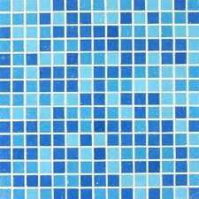 Tesserae Blends Glass Tile in Blue Lagoon