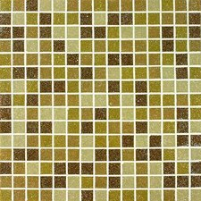 Tesserae Blends Glass Tile in Caramel Cream