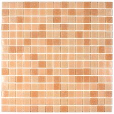 "Tesserae Blends 12-7/8"" x 12-7/8"" Glass Tile in Peach Orchard"